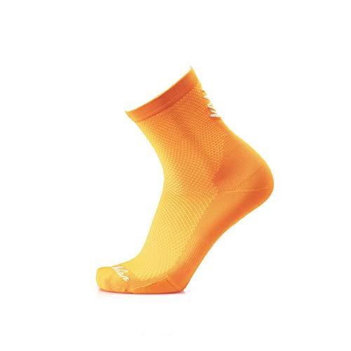 MB WEAR Socks Stelvio Orange S/M, Unisex Adulto, Naranja, Medio