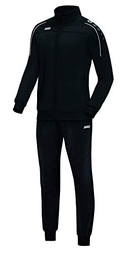 JAKO Herren Classico Trainingsanzug Polyester, schwarz, L