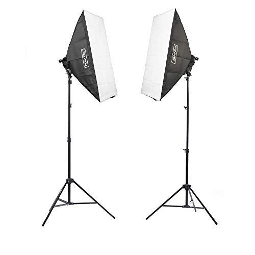 Fovitec - 2-Light 3200W Fluorescent Lighting Kit for Photo & Video with 24'x36'...