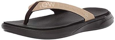 New Balance Women's 340 V1 Flip Flop, Brown/Brown, 5 M US
