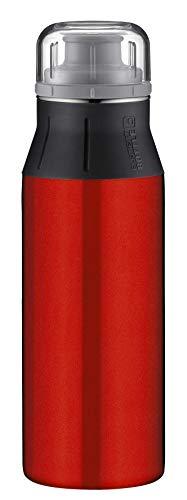 alfi Trinkflasche Edelstahl 600ml, elementBottle Pure rot, 5357.136.060 Wasserflasche auslaufsicher, spülmaschinenfest, BPA-Frei für Schule, Sport, Stadtbummel, Freizeit