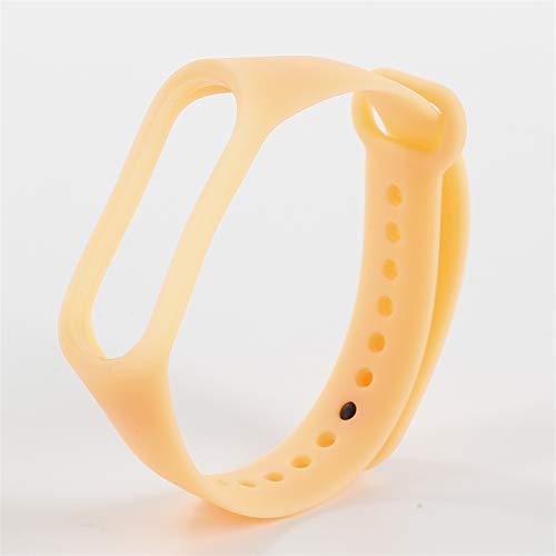 Correa de pulsera de silicona brillante luminosa para MI BAND 3 4 5 Smart Watch Bands Reemplazo Pulsera Correa Accesorios *21798 (Color : Orange, Size : For Mi Band 5)