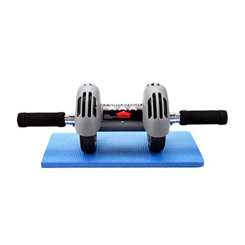 ABOOFAN 1 x Bauchmuskeltrainings-Roller, automatisches Rad, Bauchtrainings-Roller, Mute Doppelrad, Bauch-Rad mit Matte für Männer und Frauen.