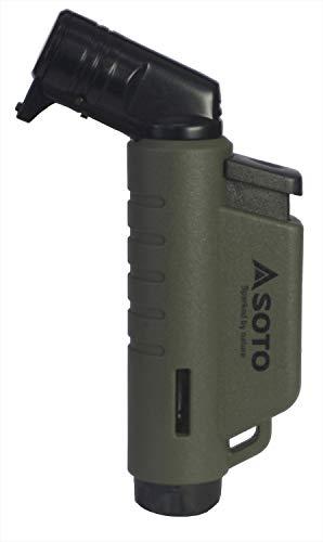 ソト(SOTO) マイクロトーチ ACTIVE(アクティブ) アーミーグリーン ST-486AG 幅5×奥行1.9×高さ9cm