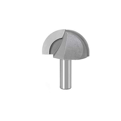 Fresa Bit de enrutador de caja de núcleo de 1pc 12mm Bit - 1/4 Radio Cuchillo de fondo redondo para herramienta de corte de carpintería (Cutting Edge Length : 12mm shank)