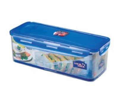 Lock & Lock HPL849T Classic Bread Box Rectangular Food Container w/Sandwich...