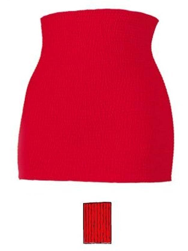 デザート問題策定する赤パン 赤い下着 男女兼用 腹巻変わり編み カラー 赤 サイズ L