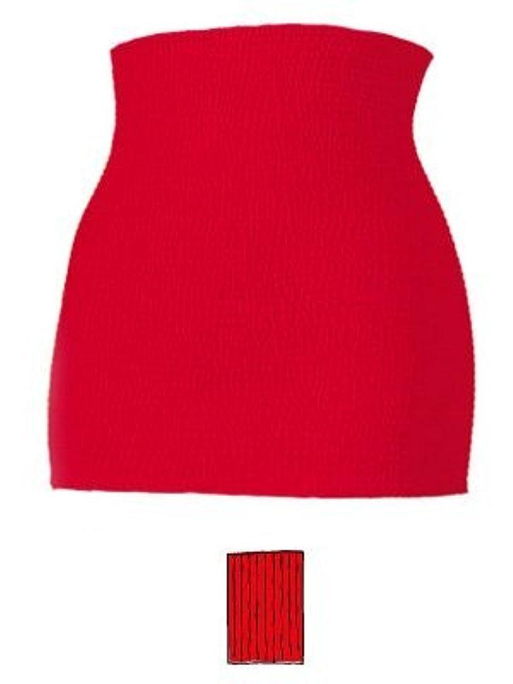 追い越す承認余剰赤パン 赤い下着 男女兼用 腹巻変わり編み カラー 赤 サイズ LL