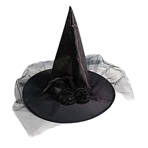 JIUYECAO Sombrero de bruja disfraz de Halloween Cosplay Wicked Bruja Accesorio Adulto Un Tamao Moderno Sombrero de Bruja Halloween Knit Cap Mujeres