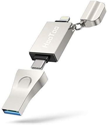 Flash Drive for iPhone HooToo 3 in 1 USB 3 1 Flash Drive USB C Flash Drive Memory Stick MFi product image