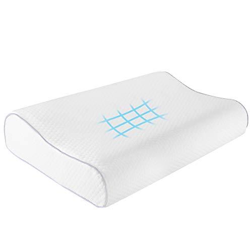 Almohada con cuello de espuma con memoria de contorno,...