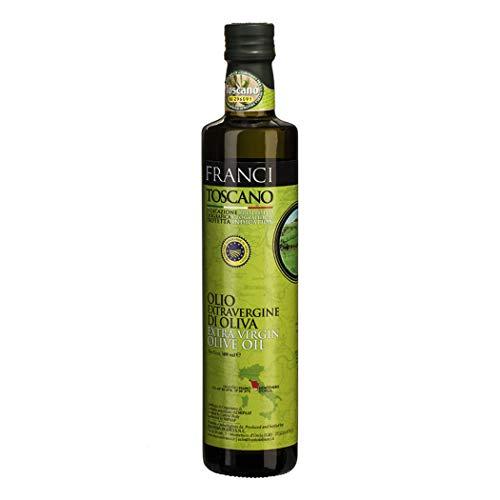 Olio extravergine di oliva Toscano - Franci - Toscana - Bottiglia di vetro - ML - Frantoio, Moraiolo, Leccino, Olivastra, ed altre in percentuali minori - IGP
