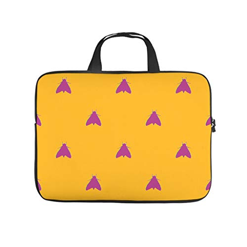 Purple Insect Yellow Laptop Computer And Tablet Carrying Case Bag Waterproof Portable Zipper Computer Laptop Sleeve For Business&Travel Lightweight For Men And Women white 15 zoll