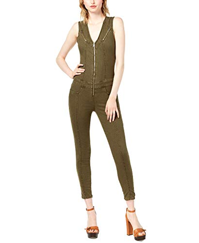 Guess | Cara Zippered Jumpsuit | Army Olive | XS