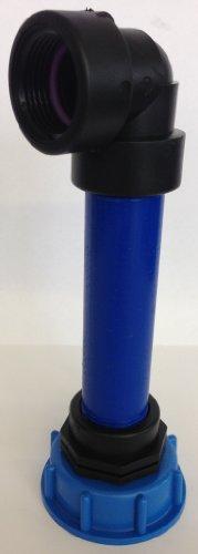 CMS60290R13_84 Manchon avec tube en plastique 100 mm dN32 aG 1, 90°, conteneur iBC adaptateur-- --cANISTER fitting