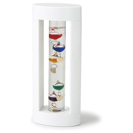温度計 ガラスフロート温度計【ガリレオ】ホワイト