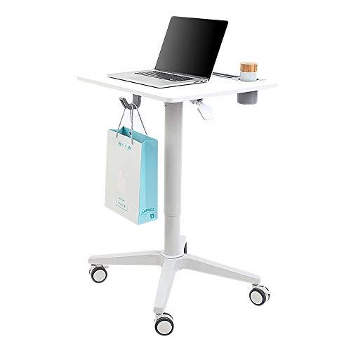 Portable Laptop Bureau Kar met Kantelen oppervlakken, verstelbare Workstation met Wielen voor Binnenlandse Zaken, Mobile Laptop Stand Desk Rolling winkelwagen