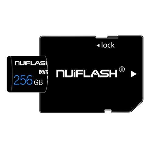 Tarjeta de memoria Micro SD de 256 GB (clase 10, alta velocidad), tarjeta TF/SD con adaptador para cámara, teléfono, ordenador, Nintendo Switch, Dash Came, vigilancia, tacógrafo, tableta, dron