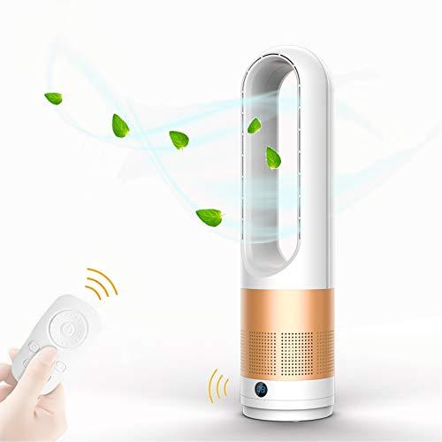 EZSMART Turmventilator Leise mit Fernbedienung, 60CM 80° Oszillierender Ventilator, Berührbarer, 8H Timer, 8 Einstellstufen Windgeschwindigkeit, Standventilator für das Office-Schlafzimmer (Gold)