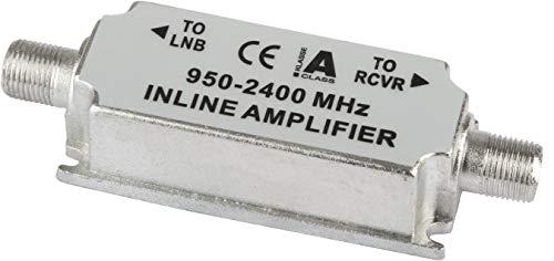 Digitalbox 77-0311-00 - Amplificador de señal para equipos por satélite (950-2400 MHz, 20 dB), plateado (importado)