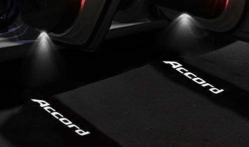 2pcs Coche Emblema Acceder a la luz de la Sombra luz de Bienvenida para Honda Accord Crosstour Coupe Sedan Pilot Honda Coche Lámpara de luz (Emitting Color : Warm White)
