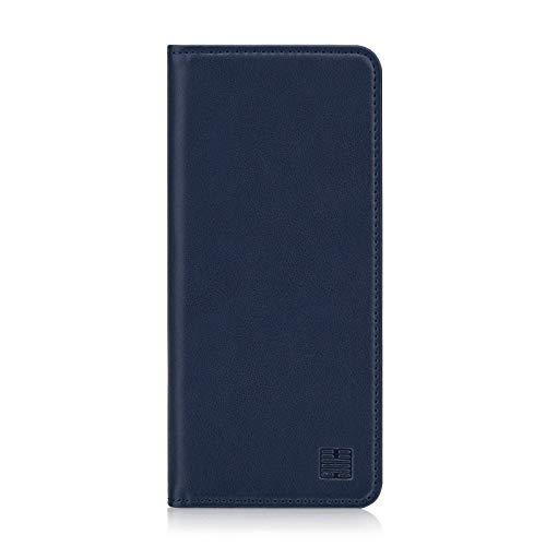 32nd Klassische Series - Lederhülle Hülle Cover für Huawei Mate 20 Lite, Echtleder Hülle Entwurf gemacht Mit Kartensteckplatz, Magnetisch & Standfuß - Marineblau