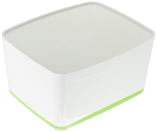 Leitz 52164054 MyBox WOW Grande boîte de rangement avec couvercle (Vert)