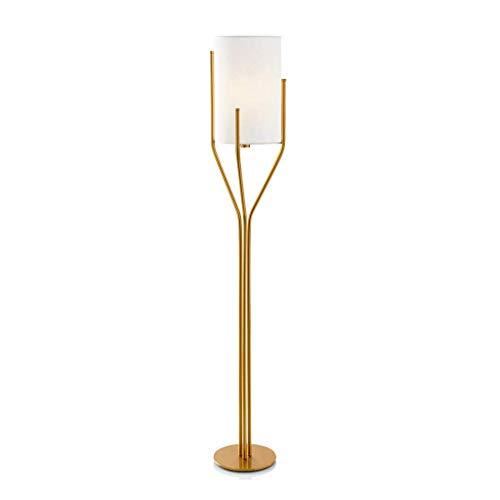 LY88 Licht? Witte Stof Lampenkap Verticale Luminaire Woonkamer Slaapkamer Eenvoudige Moderne Vloerlamp