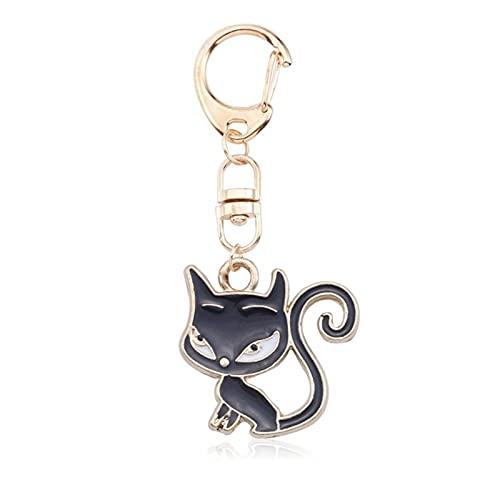 Lindo llavero Anime gato llavero llavero para niña mujeres linda zorro sirena sandía colgantes llavero anillo bolsa colgante encantador joyería niño regalos Regalo para mujeres ( Color : YSK015 D )