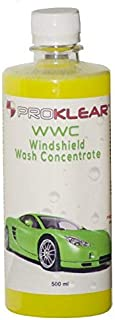 PROKLEAR WWC Windshield Wash Additive Concentrate 500ml -Just add 5ml per fill - Keeps Windshield Clear & Wipers Lubricated 100 refills - Anti Wiper Judder Formula