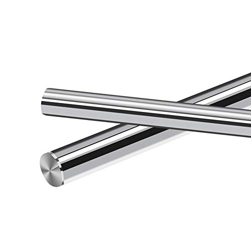 2PCS Linear Motion Guide Rail/Shaft/Rod 6mm 8mm 10mm Diameter,Surface Hardened Chrome Treatment, Metric G6 Tolerance,0.315x16inch(8mmX406mm)