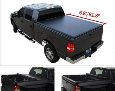 """MGPRO 1pc 6.8'/81.8""""-81.9"""" Locking & Roll Up Soft Waterproof Vinly Truck Bed Tonneau Cover Assembly +Rails+Install Instruction+3 Year Warranty For 2017-2020 Ford F250 F350 F450 Super Duty"""