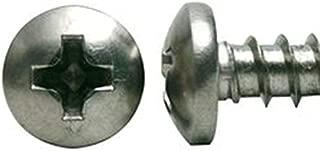 18-8 Stainless Steel 8 x 1 Pan Head Sheet Metal Screws, ANSI B18.6.3 (Qty 250)