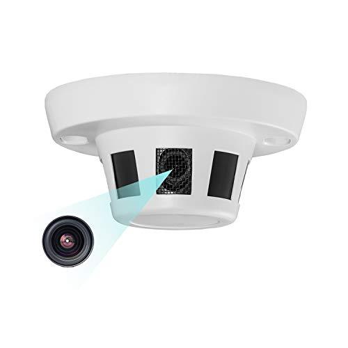 HD 3MP Indoor Security PoE IP Kamera, Rauchmelder Typ Kabelgebundene Netzwerkkamera ONVIF P2P H.265 CCTV-Videoüberwachung Verdeckte versteckte Kamera 1080P 1296P Keine Nachtsicht (I238-P Weiß)