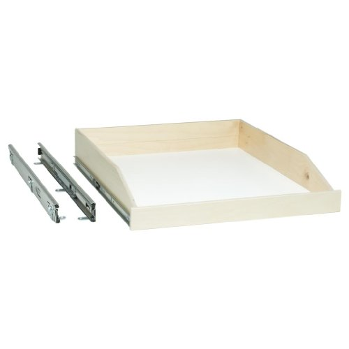 Slide-A-Shelf SAS-FE-L-B, Made-to-Fit Slide-Out Shelf, Full-Ext, 6 to 36 in. Wide, 16 1/2 to 24 in. deep, Poly-Finished Birch Fronts, See Important INFO Below!