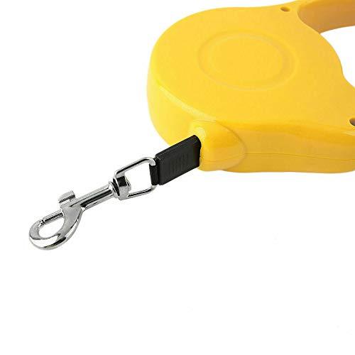 Bahob® Correa retráctil de Entrenamiento para Perro, Correa Resistente de 16.5 pies de Largo Extensible para Mascotas pequeñas y Grandes con Sistema de Seguridad fácil de un botón de Freno y Bloqueo