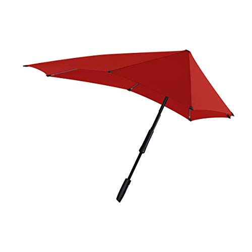 Senz゜(センズ) 長傘 Large パッションレッド 手開き 晴雨兼用