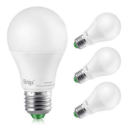 Elrigs E27 LED Lampe dimmbar, 8W ersetzt 70W Glühbirne, CozyGlow Warmweiß(2200-3000 Kelvin), 4er Pack