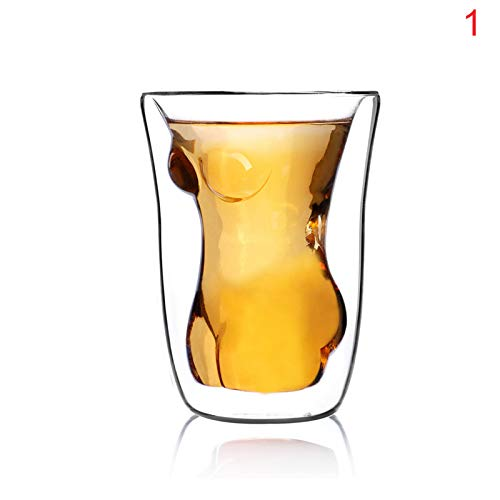 MAyouth Sexy Bierglas Kristall Doppelwand-Mann-Form-Glas-Schale Für Bier Whiskey Cocktail - Geschenkkarton Erwachsener Neuheit-Bier-Glas-Geschenk Für Männer