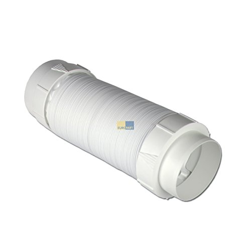 Abluftschlauchset Schlauch Abluft 3m PVC 2 Adapter: 102mmØ (Geräteanschluss) 88mmØ (Fenster/Mauer)