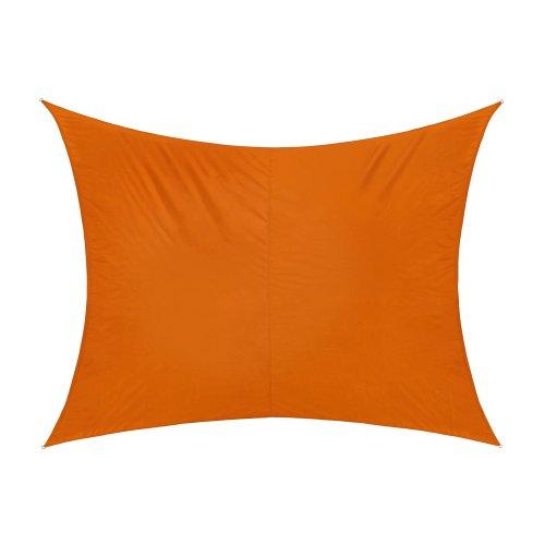 jarolift Sonnensegel Rechteckig, Wasserabweisend, Sonnenschutz Sichtschutz für Terrasse Garten Balkon, Polyestergewebe 300 x 200 cm, Orange