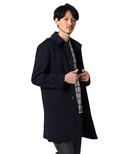 [ タケオキクチ ] ステンカラーコート 【Sサイズ?】メランジヘリンボンコート 07099097 メンズ ネイビー(09...