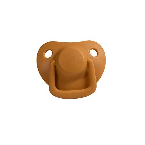 Filibabba® Schnuller 2er Set | Baby Schnuller aus Silikon in schönen matten Farben | Kiefergerechte Schnuller | Dänisches Design | 2 Stück mit Schnuller Box (Golden Mustard, 0-6 Monate)