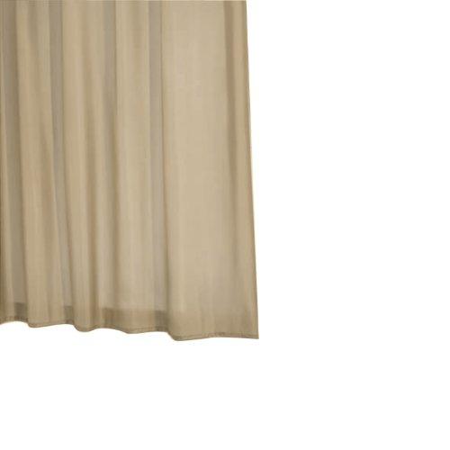 Ridder 453090-350 Duschvorhang Textil 180 x 200 cm, inkusiv Ringe Madison Uni beige