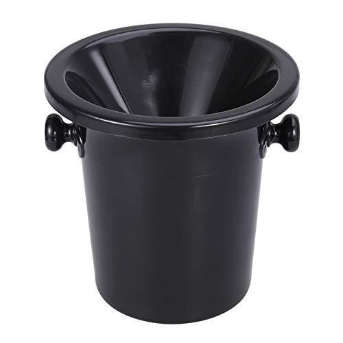 BALLYE Escupidera de degustación de Vino Escupidera de Vino Negro Cubo de volcado de Vino Cubo de Hielo Redondo de plástico con Orejas Dobles Accesorios para degustación de vinos