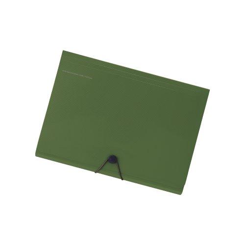 『リヒトラブ キャリングドキュメント スマートフィット A4 6ポケット オリーブ A7589-22』の1枚目の画像