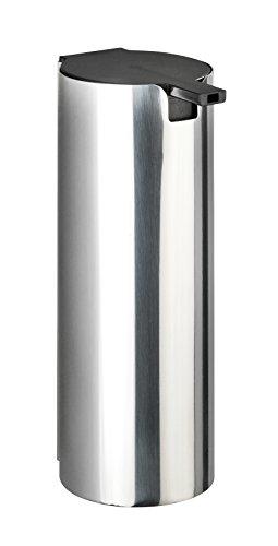 WENKO Turbo-Loc® Edelstahl Seifenspender Detroit - Wand Flüssigseifen-Spender, Befestigen ohne bohren Fassungsvermögen: 0.24 l, Edelstahl rostfrei, 6 x 16.5 x 8 cm, Glänzend