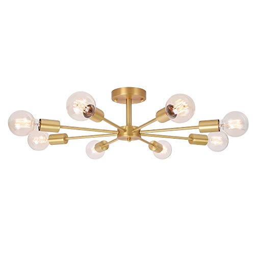OYIPRO 8-Flammig Deckenleuchte Modern Deckenlampe E27 Lampenfassung Metall für Wohnzimmer Schlafzimmer Esszimmer Balkon Restaurant Shop Bar