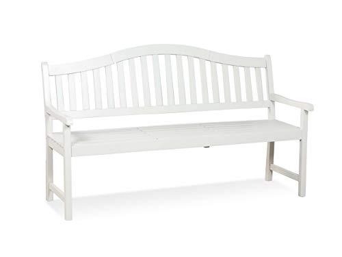 LANTERFANT – Gartenbank Jan, Aufklappbaren Tisch, Dreisitzer, Akazien Holz, Klassisch, Erhältlich in DREI Farben, Ton, Clay, Ecru, Weiß