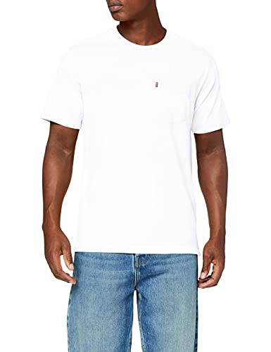 Levi's Relaxed Fit Pocket tee Camiseta, Color Blanco, L para Hombre